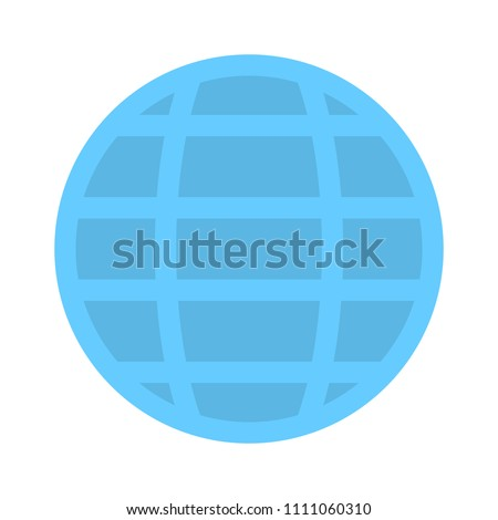 vector Global world icon - business concept, earth abstract sign symbol