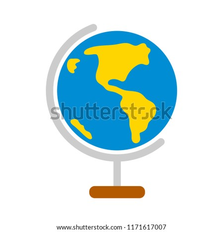 vector globe earth map, world sphere illustration isolated - geography concept