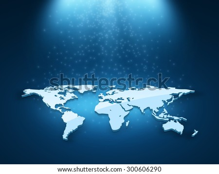 vector globe map of the world