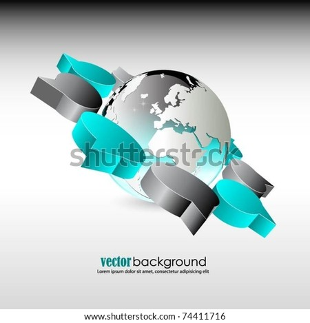 vector globe with 3d speech bubbles