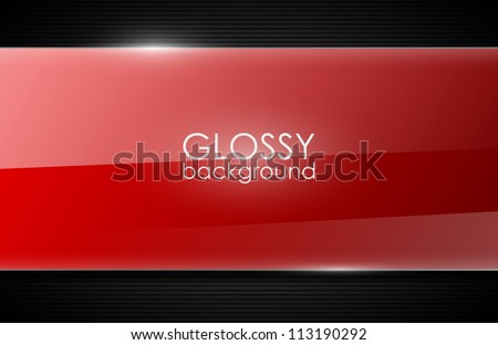 vector glossy background - stock vector