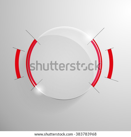 vector glossy banner with red