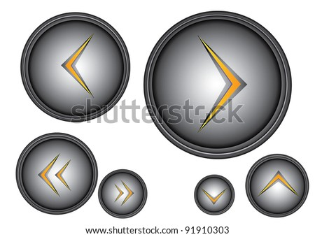 Vector glossy 3d buttons collection. Web icons set.