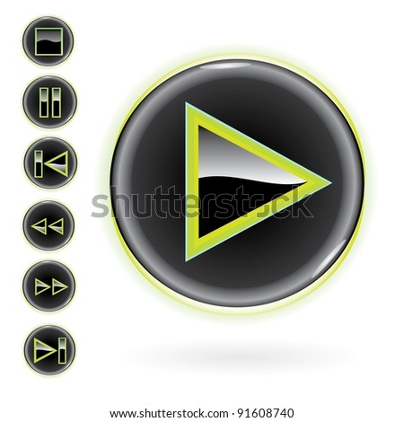 3D Glossy Buttons