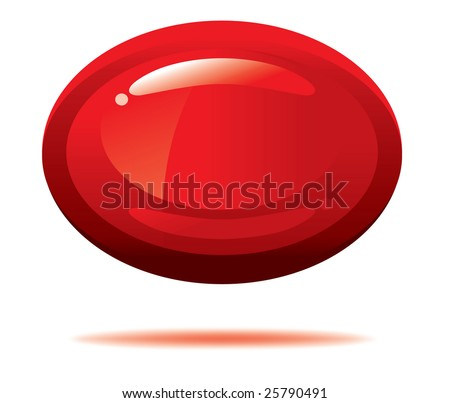 Vector glossy 3-d oval on white background
