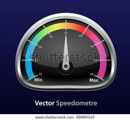 Vector glossy download speedometer