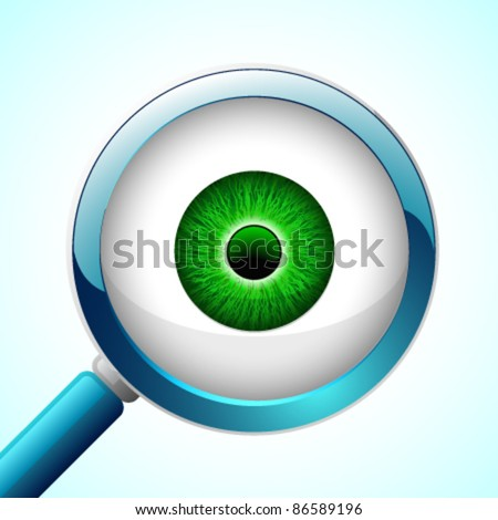 vector glossy eyeball with a
