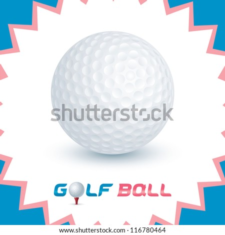 Vector Glossy Golf Ball Icons, Button, Sign, Symbol, Logo for Baby, Child, Children, Teenager, Family