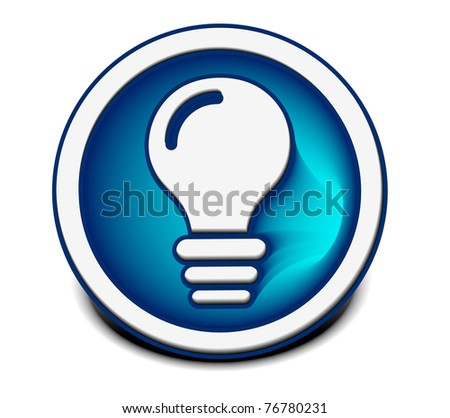 vector glossy idea web icon design element. - stock vector