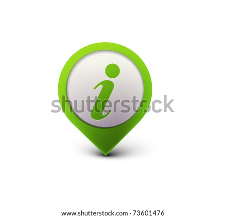 vector glossy information web icon design element.