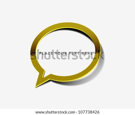 vector glossy messenger window web golden icon design element.