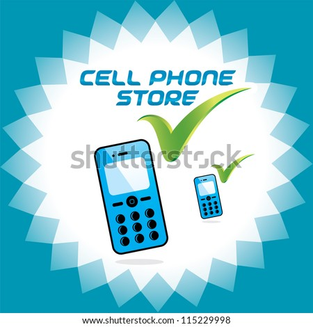 vector glossy mobile phone
