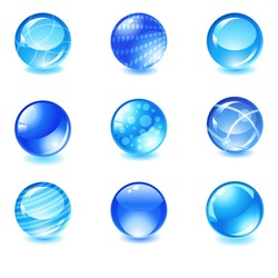 vector glossy spheres set 1