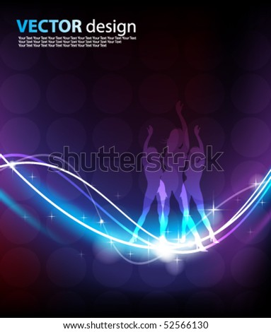 vector glowing background