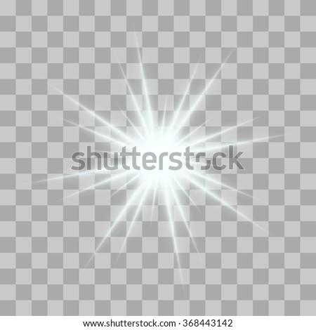 vector glowing light bursts