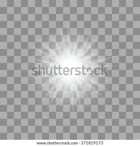 Vector glowing light bursts with sparkles on transparent background Foto stock ©