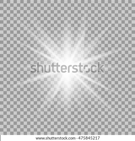 vector glowing light effect on