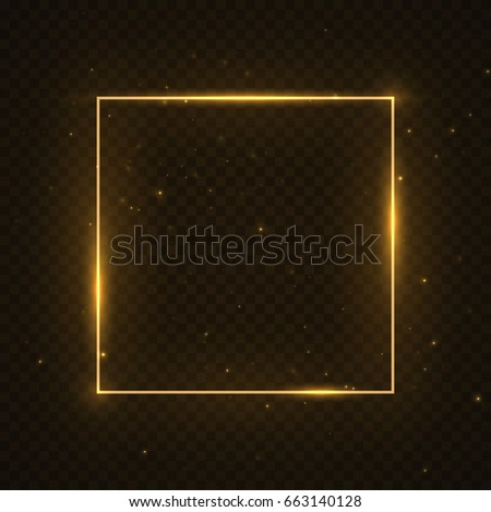 vector glowing magic square