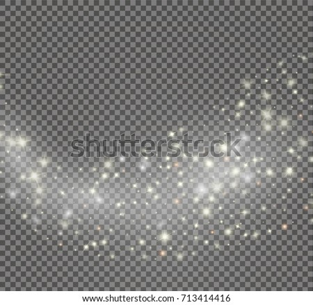Vector glowing stars effect , lights and bursts sparkles with sparkles isolated on transparent background
