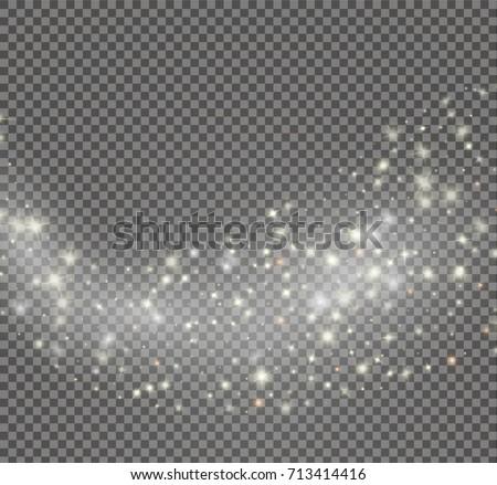 vector glowing stars effect