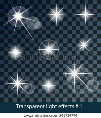 vector glowing stars  lights