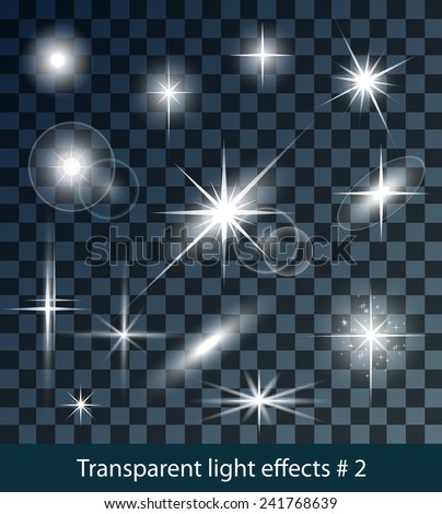 vector glowing stars  lights