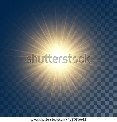 vector glowing yellow sun with...