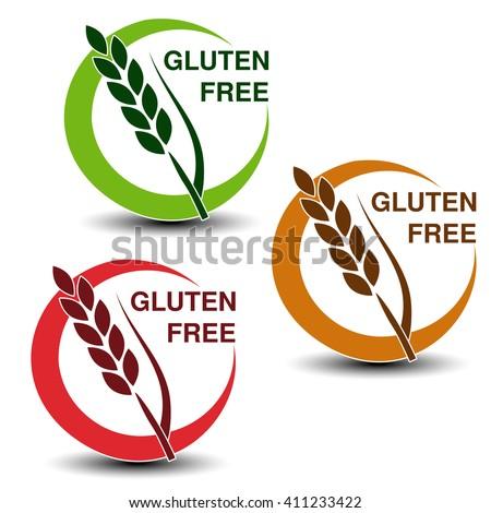 vector gluten free symbols