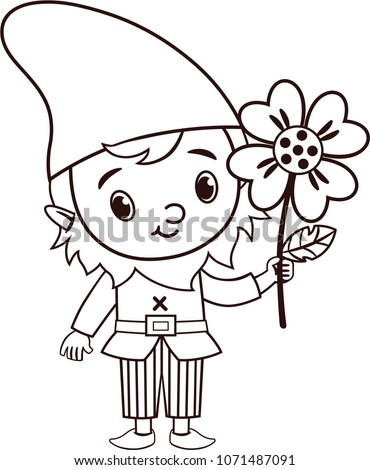 vector gnome character is