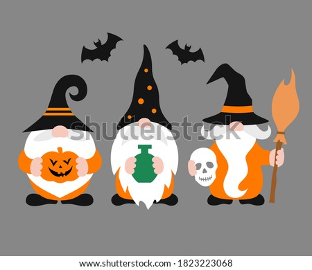 vector gnomes isolated
