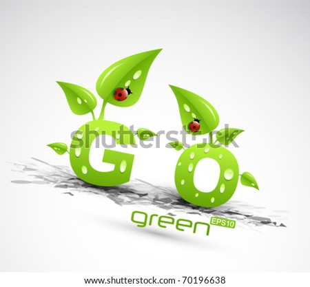 vector go green concept