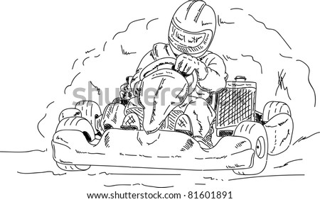 vector - go - kart isolated on background