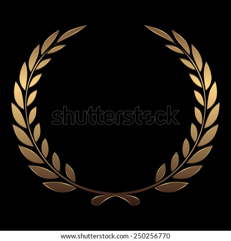 vector gold award wreaths