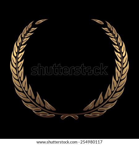 vector gold award wreaths