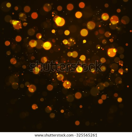vector gold bokeh abstraction