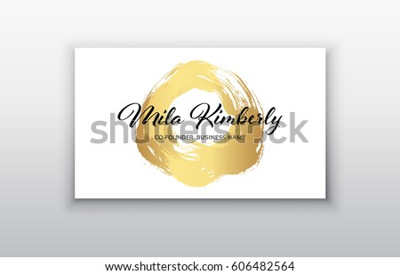 Free vector business card background download free vector art vector gold business card templates with brush stroke backgroundctor design concept for stylist wajeb Images