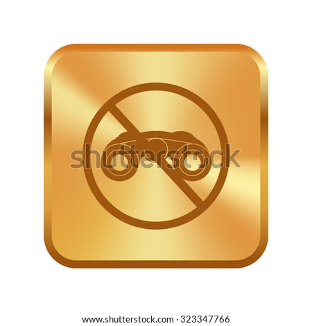 vector gold button with anti