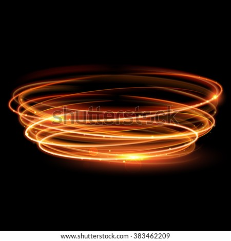 vector gold circle light