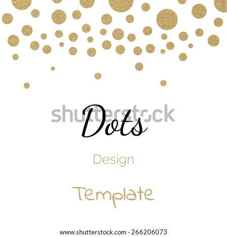 vector gold circle polka dots design template