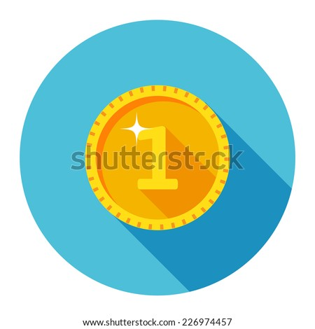 vector gold coin icon
