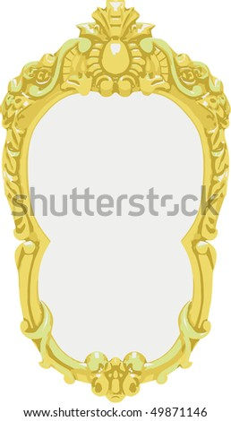 Vector gold frame