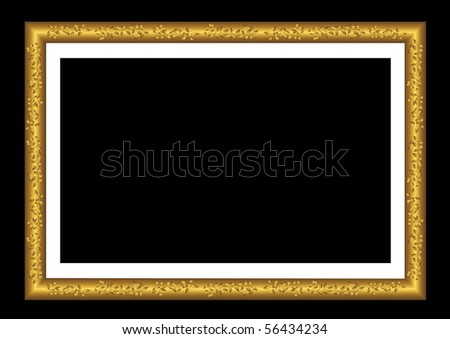 Vector gold frame with ornaments.