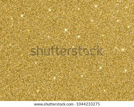 Vector gold glitter background texture. Sparkle glittery festive background for luxury gift card or holyday Christmas backdrop. Sparkle golden confetti decoration design for premium design