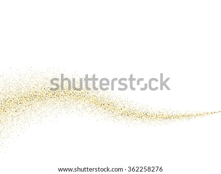 vector gold glitter wave abstract background golden sparkles on white background gold glitter card