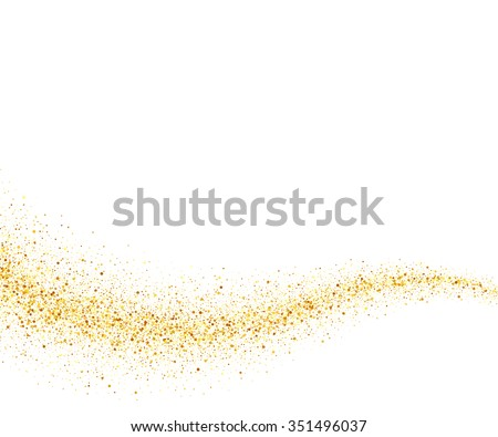 vector gold glitter wave