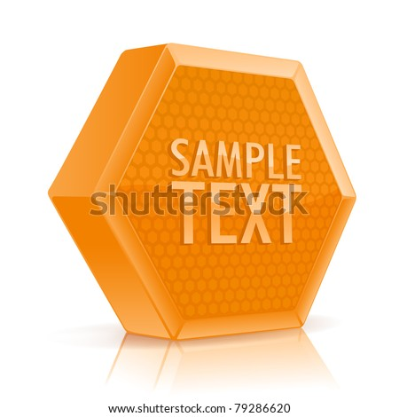vector gold hexagon shape background