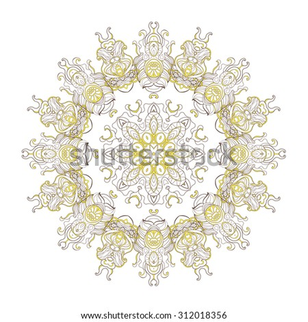 vector gold  mandala