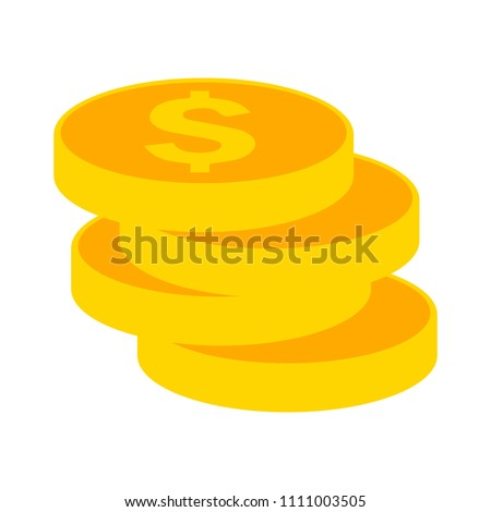 vector gold money illustration isolated, investment business finance icon