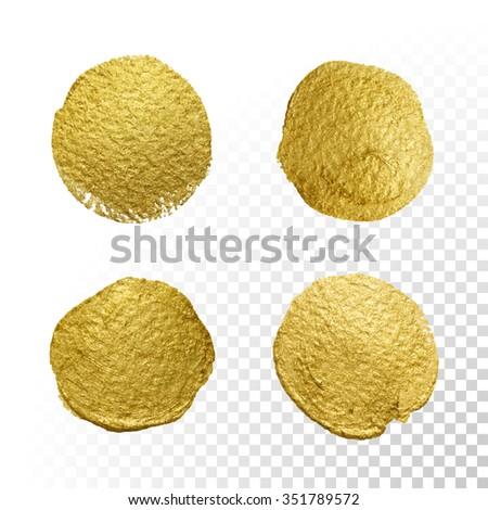 vector gold paint smear stroke