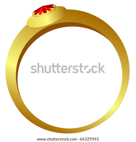 vector gold ring